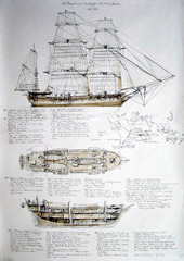 HMS Beagle and the voyage with Charles Darwin, Darwins Schiff